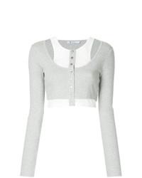 grauer kurzer Pullover von T by Alexander Wang