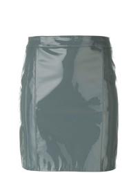 grauer Leder Minirock von Manokhi