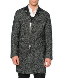 Grauer Mantel mit Fischgrätenmuster von DSQUARED2