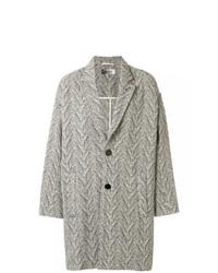 grauer Mantel mit Fischgrätenmuster von Isabel Marant