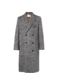 grauer Mantel mit Fischgrätenmuster von Salle Privée