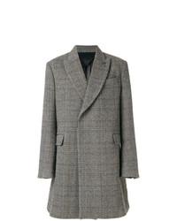 grauer Mantel mit Fischgrätenmuster von Stella McCartney