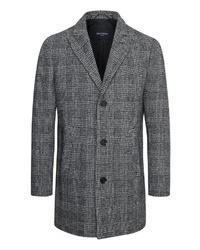 grauer Mantel mit Hahnentritt-Muster von Matinique