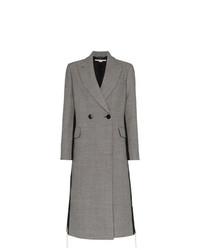 grauer Mantel mit Hahnentritt-Muster von Stella McCartney