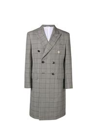 grauer Mantel mit Karomuster von Calvin Klein 205W39nyc