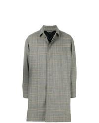grauer Mantel mit Karomuster von Lanvin