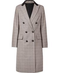 grauer Mantel mit Karomuster von Rag & Bone