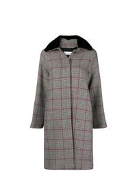 grauer Mantel mit Karomuster von RED Valentino