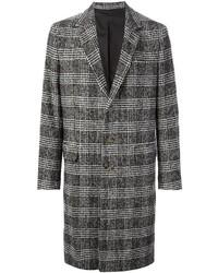 grauer Mantel mit Schottenmuster von Ami