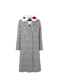 grauer Mantel mit Schottenmuster von Ava Adore