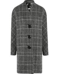grauer Mantel mit Schottenmuster von Balenciaga