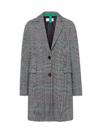 grauer Mantel mit Schottenmuster von Brax