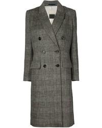 grauer Mantel mit Schottenmuster von By Malene Birger