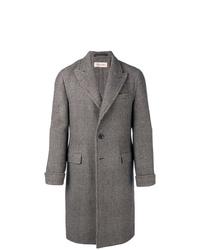 grauer Mantel mit Schottenmuster von Caruso