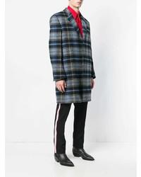 grauer Mantel mit Schottenmuster von Calvin Klein 205W39nyc