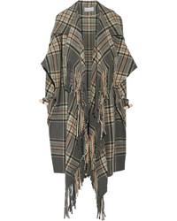 Grauer Mantel mit Schottenmuster von Chloé