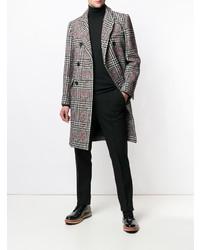 grauer Mantel mit Schottenmuster von Paul & Joe