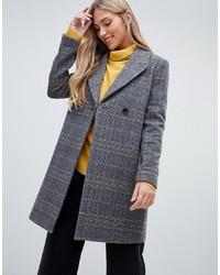 grauer Mantel mit Schottenmuster von Forever New