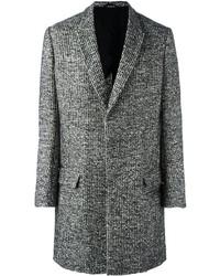 grauer Mantel mit Schottenmuster von Haider Ackermann