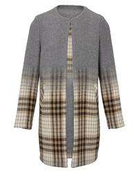 grauer Mantel mit Schottenmuster von Heine