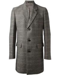grauer Mantel mit Schottenmuster von Maison Margiela