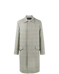 grauer Mantel mit Schottenmuster von Marni