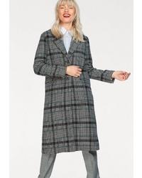 grauer Mantel mit Schottenmuster von Pepe Jeans