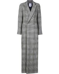 grauer Mantel mit Schottenmuster von Rosie Assoulin