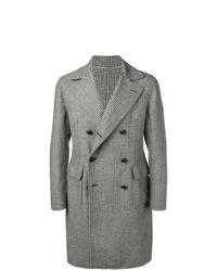 grauer Mantel mit Schottenmuster von Tagliatore