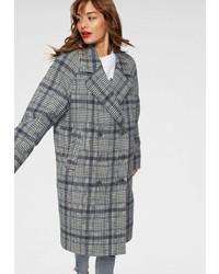 grauer Mantel mit Schottenmuster von Tommy Jeans