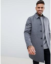 grauer Mantel von ASOS DESIGN