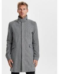 grauer Mantel von ONLY & SONS