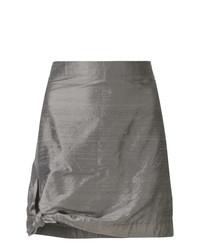 grauer Minirock von Giorgio Armani Vintage
