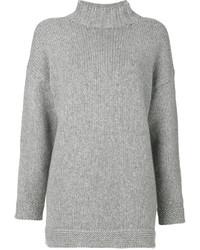 grauer Oversize Pullover von Alexander McQueen