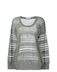 grauer Oversize Pullover von Christian Wijnants