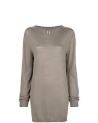grauer Oversize Pullover von Rick Owens