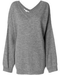 grauer Oversize Pullover von Stella McCartney