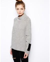 grauer Oversize Pullover von Vila