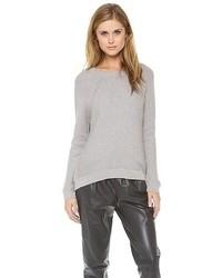 grauer Oversize Pullover von Vince