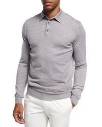 grauer Polo Pullover