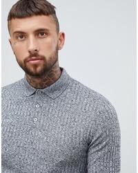 grauer Polo Pullover von ASOS DESIGN