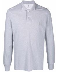 grauer Polo Pullover von Brunello Cucinelli