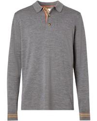 grauer Polo Pullover von Burberry