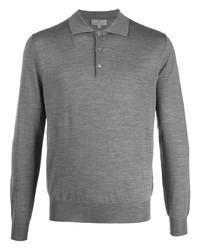 grauer Polo Pullover von Canali