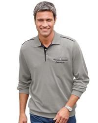 grauer Polo Pullover von CATAMARAN