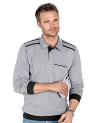 grauer Polo Pullover von Classic