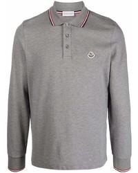 grauer Polo Pullover von Moncler