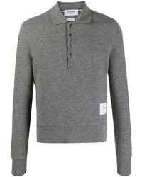 grauer Polo Pullover von Thom Browne