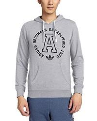 grauer Pullover mit einem Kapuze von adidas