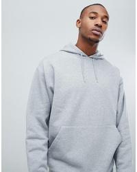 grauer Pullover mit einem Kapuze von ASOS DESIGN